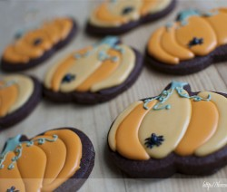 Galletas calabaza de Halloween