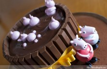 Tarta de chocolate de Peppa Pig
